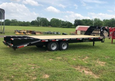 102″ x 25′ = 20+5 Single Wheel Gooseneck Trailer - $7,500