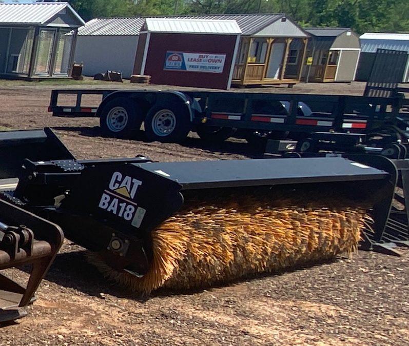 CAT BA18 Sweeper Skidsteer Attachment - $125